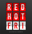 Red Hot Black Friday Sale vector image