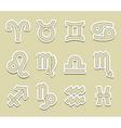 horoscope symbols vector image vector image