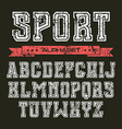 Serif font in the style of college vector image