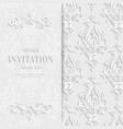 White Floral 3d Christmas and Invitation vector image