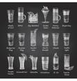 Set of shot cocktails menu design vector image