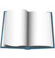 Open Book Page vector image vector image