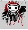 teddy bones vector image