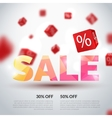 Sale poster  Design template vector image
