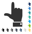 hand pointer up icon vector image