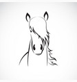 horse head design on white background horse vector image