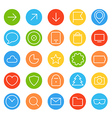 Modern thin color web icons collection vector image