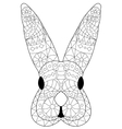 Rabbit head Coloring for adults vector image