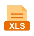 XLS File vector image