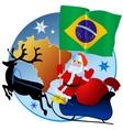 Merry Christmas Brazil vector image vector image