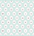 seamless pattern with crowns on pastel blue for vector image