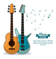 poster music festival in white background with vector image