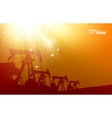 Oil pump background vector image vector image