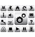 metal icon set vector image vector image