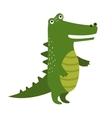 cartoon cute crocodile isolated on white vector image