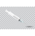 Syringe with needle on transparent background - vector image