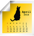 April 2016 Calendar vector image