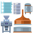 beer brewing process alcohol factory production vector image