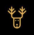 christmas deer simple flat icon vector image