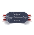 Happy Presidents Day blue grunge Banner vector image