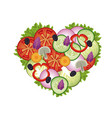 heart salad vegetables health image vector image