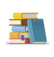 literature and library in flat style vector image
