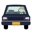 man driving car front view vector image