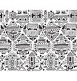 seamless pattern with hand drawn ornament vector image