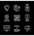 Set line icons of LED equipment vector image