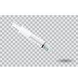 Syringe with needle on transparent background - vector image
