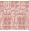 White lace fabric leopard seamless pattern vector image