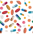 Collection of pills and capsules Seamless vector image