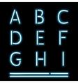 Neon Light Alphabet 1 vector image