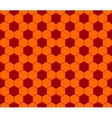 Seamless football pattern red orange EPS 10 vector image vector image