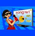 karaoke vector image vector image