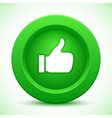 thump up green button vector image