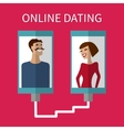 Internet dating online flirt and relation Mobile vector image