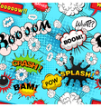 Seamless pattern comic speech bubbles illus vector image vector image