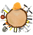 Construction Wooden Board with Tools vector image