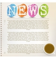 Education News vector image vector image