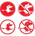 bird dragon vector image