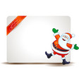 christmas panel with funny santa claus vector image