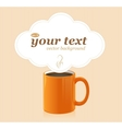 coffee cup with text vector image