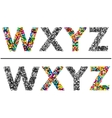 Colorful letters set for design vector image