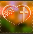 Design with heart and cross vector image