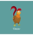 Drawing of cock in cartoon style Rooster vector image