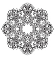 flower mandala with hand drawn floral vector image