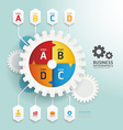 Modern Design gear style infographic template vector image