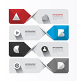 Modern Geometric Infographics Design template vector image
