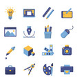 printing and graphic design icons vector image